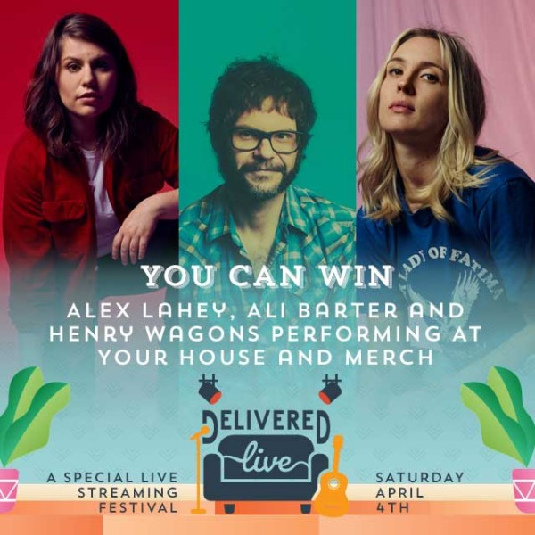 Win Alex Lahey, Ali Barter and Henry Wagons performing at your house and merch